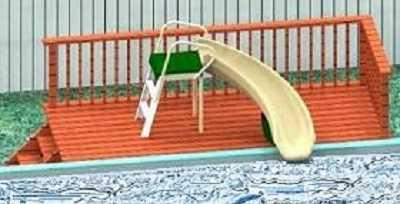 Safari One Above Ground Pool Slide