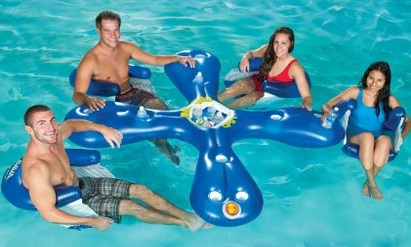 4 Seat Inflatable Floating Bar With Cooler