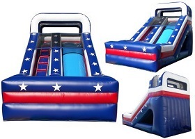 red,white, & blue commercial inflatable water slide