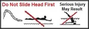 Swimming Pool Slide Safety-Never Slide Head First !!