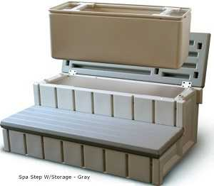 Hot Tub Storage Steps - Gray