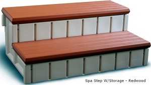 Hot Tub Storage Step - Redwood