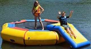 Island Hopper 10' Bounce N Splash Water Park with Bouncer Slide