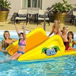 Slick Slider Island Inflatable Water Slide