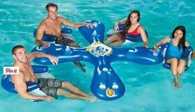 4-Seat Inflatable Floating Bar