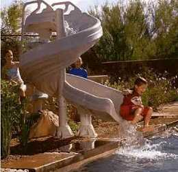 G FORCE 2 Swimming Pool Slide by Inter-fab