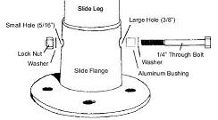 Deck Anchor Flange-Stainless Steel