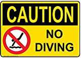 No diving Pool Slign