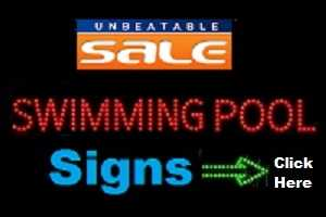 Pool Signs Unbeatable Sale