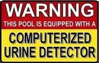 Computerized Urine Dector Pool Sign