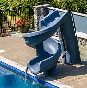 Helix2  roto-molded inground swimming pool slide