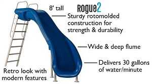 rogue2 pool slide specifications