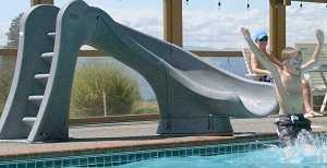 Cyclone Swimming Pool Slide on Pool