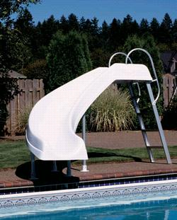 Rocket Ride Swimming Pool Slide