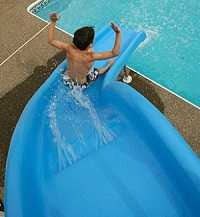 Going Down the Rogue2 Pool Slide
