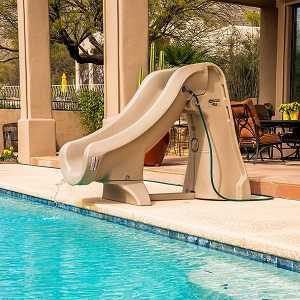 slideaway swimming pool slide