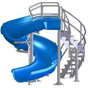 Vortex 360 Degree Commercial Swimming Pool Slide Information Specifications Installation