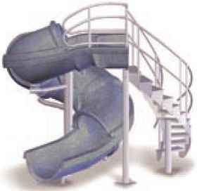 Vortex Closed Flume Inground Swimming Pool Slide with Ladder