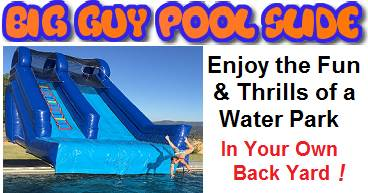 Big Guy Inflatable Pool Slide