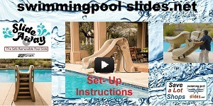 Setting up the Slideaway Swimming Pool Slide Video